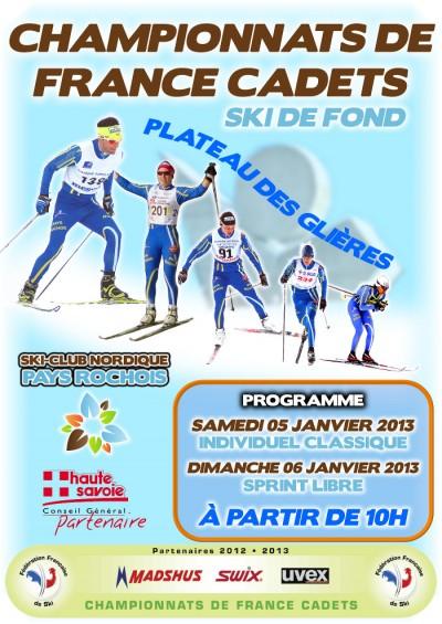 De france cadets de ski de fond sur le plateau des glières